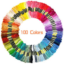 100 pcs Anchor Similar DMC embroidery floss Cross Stitch Cotton Embroidery Thread Floss Sewing Skeins Craft Wholesale & Retail(China)