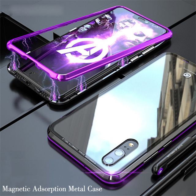 competitive price f1b1e 530b2 US $4.94  For Huawei Mate 20 Pro Lite Honor 8X Play 2018 360 Magnetic  Adsorption Metal Border Glass Flip Case Magnet Cover Shell-in Fitted Cases  from ...