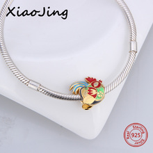 2018 New Style 925 Sterling Silver Cock & Chicken Beads Fit charms Original pandora Bracelets Beads Jewelry making women Gifts