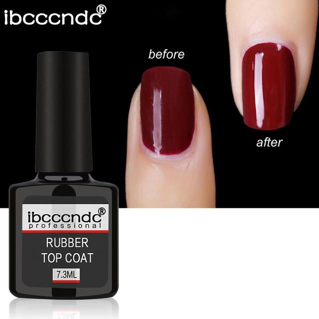 7.3ml Rubber Base Top Coat Nail Art Manicure UV Fast Dry Varnish ...