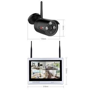 Image 2 - Anran 4CH Sistema Cctv Wireless 1080P 12 Pollici Nvr Sistema di Telecamere di Sicurezza con 2MP Esterna Del Ip di Wifi Della Macchina Fotografica di Sorveglianza kit