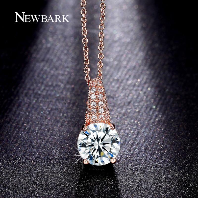 font b NEWBARK b font 4 Claw CZ Diamond font b Necklaces b font Pendants