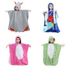 Детский костюм для купания с капюшоном пуловер крой солнце детское банное полотенце с мультяшным принтом для маленьких мальчиков и девочек впитывающие воду халат пляжное полотенце Полотенца s