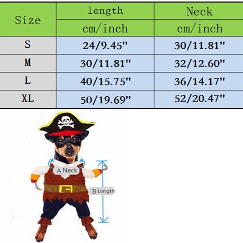 Grappige kat kostuum piraat pak kat kleding Corsair Halloween kostuum - Producten voor huisdieren - Foto 6