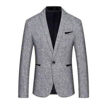 New Style High Quality Men's Casual Blazer Single Buckle Slim Fit Mens Coat Jacket Classic Business Blazer Men