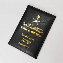 Nova Arábia Saudita Paspoort Titular de Viagem Mulheres de Couro Pu de Proteção Capas Para Passaporte Caso Passaporte Moda Bonito Menina Rosa