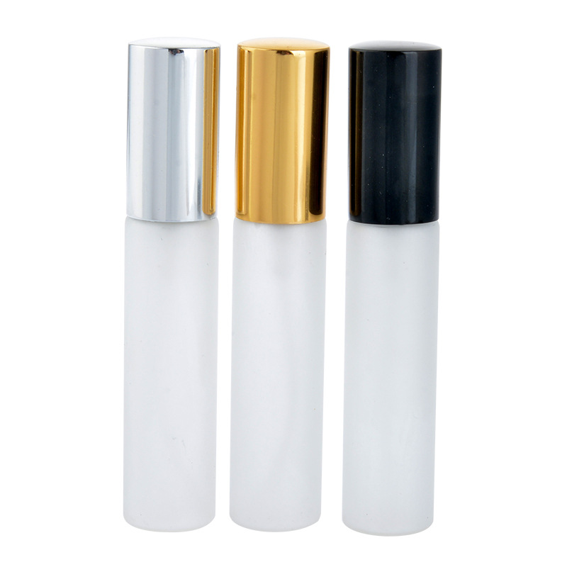 DHL FREE 200PCS LOT 10ML Frosting Glass Refillable Perfume spary Bottle With Aluminum Atomizer Empty Parfum