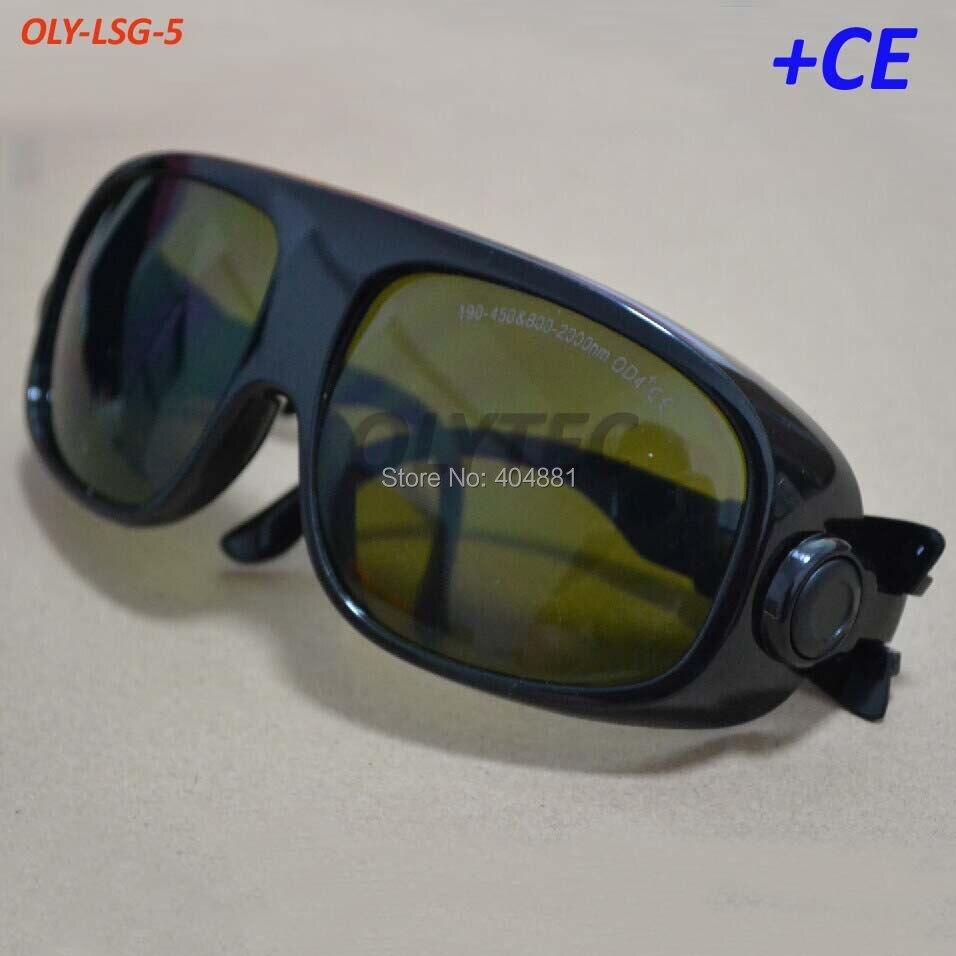 190-450 & 800-2000nm óculos de segurança do laser para 808-810nm, 980nm e 1064nm OD 4 + CE