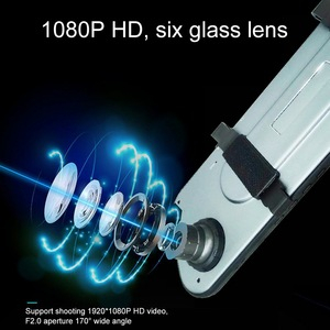Image 3 - Ultra thin 2.5D Driving Recorder 5 inch Touch Screen Car Camera Starlight Night Vision Front And Rear Dual Lens