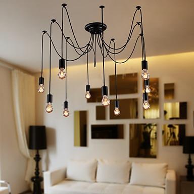 Moderne pendelleuchte Vintage Design Birnen Inbegriffen Wohnzimmer ...