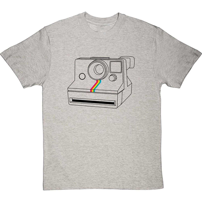 GILDAN T-shirt Novelty Cool Tops Mens Short Sleeve Tshirt Polaroid Camera Mens T-shirt