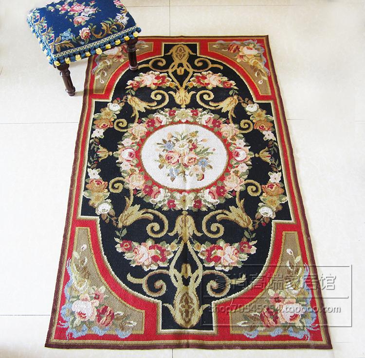 Tissu d'ameublement à la mode ménage décore tapis circulaire tapis Oriental laine tapis à tricoter