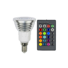 AC 110V 240V E14 RGB LED Bulb 16 Color Changeable Lamp spot light  for Home Party decoration with IR Remote