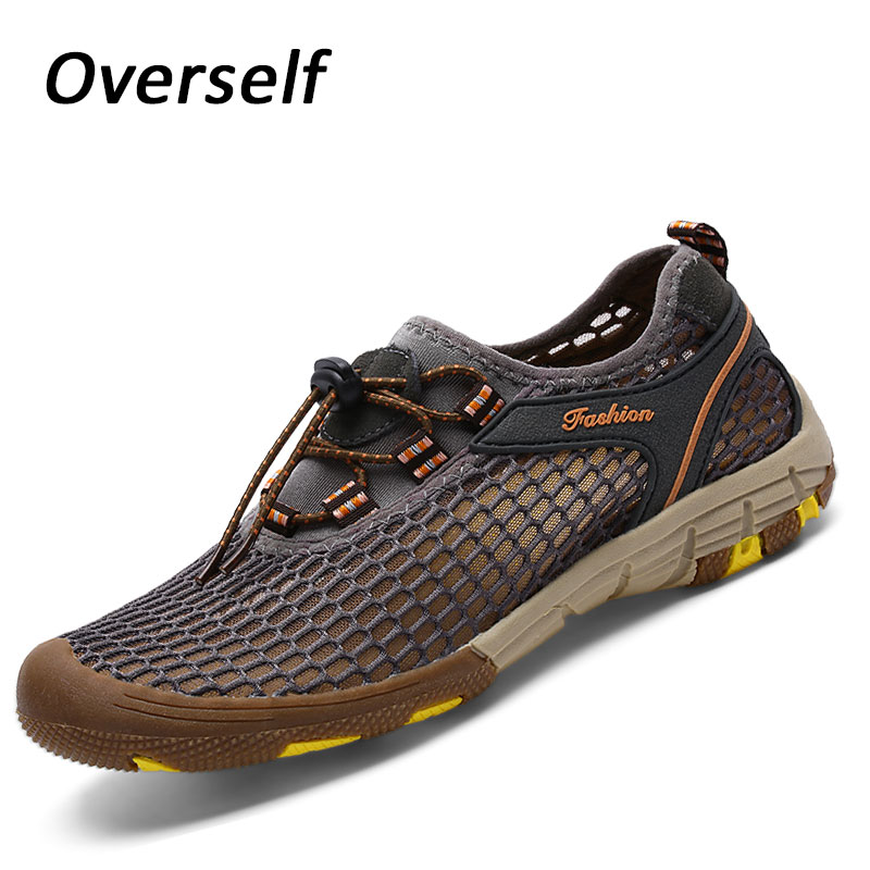2018 New Summer Breathable Light Mesh Sneakers For Men Spring Plus Big Size 46 47 Male Casual Shoes Adult Walking Footwears