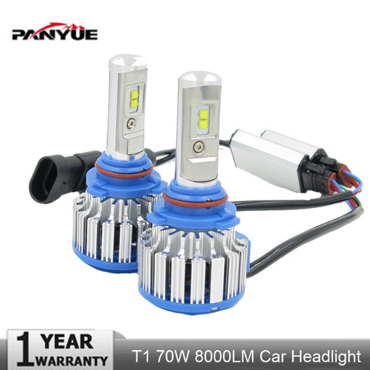PANYUE 2PCS Top Quality T1 H4 Scoket T1 Turbo Led Car Headlight H1 H3 H7 H8