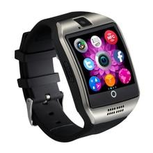 Получить скидку 2018 MTK6261 Смарт-часы Q18 с SIM и карты памяти слот нажмите сообщение Камера Bluetooth Подключение Android телефон лучше, чем DZ09 A1