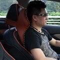 Encosto de Cabeça do carro Pescoço de Espuma de Memória Recuperação Lenta Espaço 3D Série De Microfibra Carro Tampas de Assento Encosto de Cabeça Acessórios Do Carro