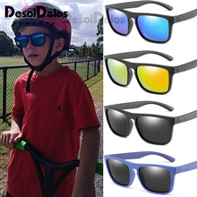 Детские солнцезащитные очки для мальчиков и девочек, поляризованные детские солнцезащитные очки, PC очки с защитой от ультрафиолета, высокое качество, D323