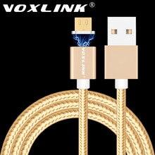 Voxlink Магнитный кабель 2.4A Micro Зарядка через USB данных кабель магнитное зарядное устройство для Samsung Xiaomi Huawei LG телефонах Android