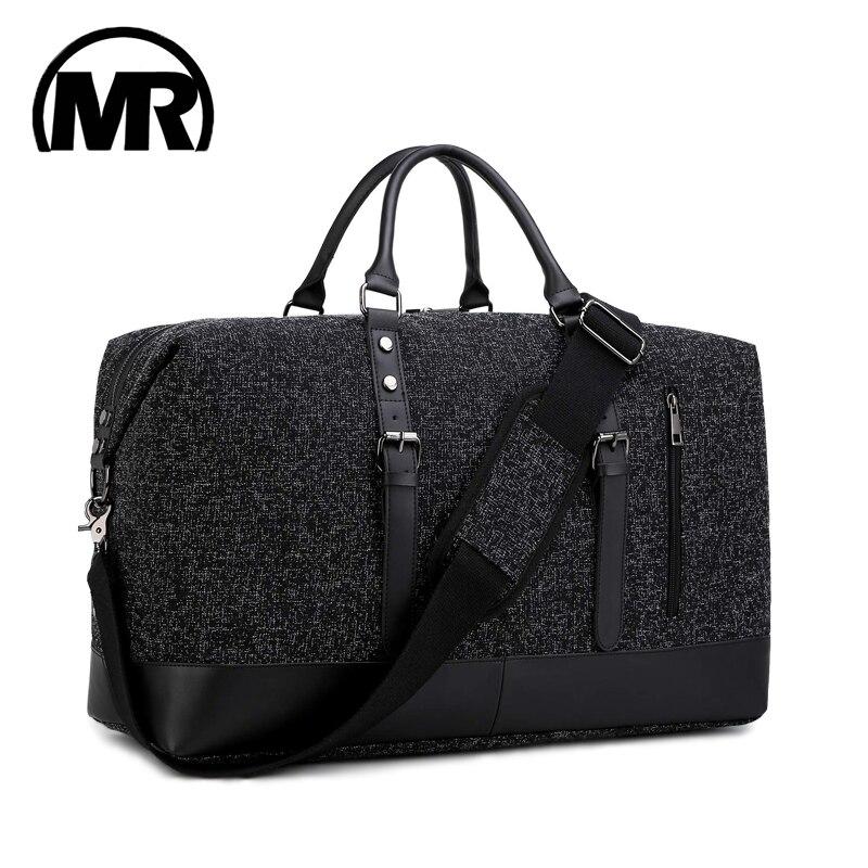 MARKROYAL 2019 moda bolsa de viaje Oxford Unisex bolsa de viaje llevar en equipaje bolsas de asas de lona Weekender noche negro y gris