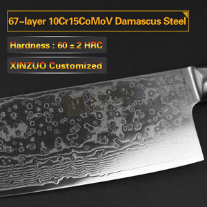 Image 2 - Xinzuo 6.8 inch inch polegadas nakiri facas de cozinha 67 camada japonês vg10 damasco faca de aço chef cozinheiro faca de corte pakka punho de madeira