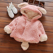 2016 super cute baby girl coat fashion candy colors infant toddler wnter warm cartoon shaped