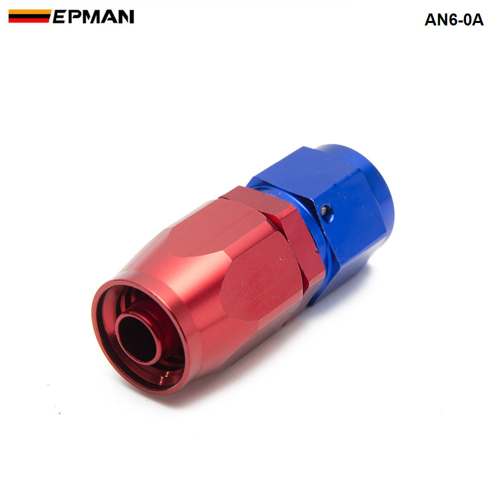 Universal AN6 6-AN Straight Swivel Oil//Fuel//Gas Hose End Male Aluminum Fitting