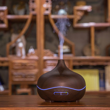 400ml Ultrasonic Air Humidifier with Wood Grain electric Aroma Essential Oil Diffuser Cool Mist maker for home