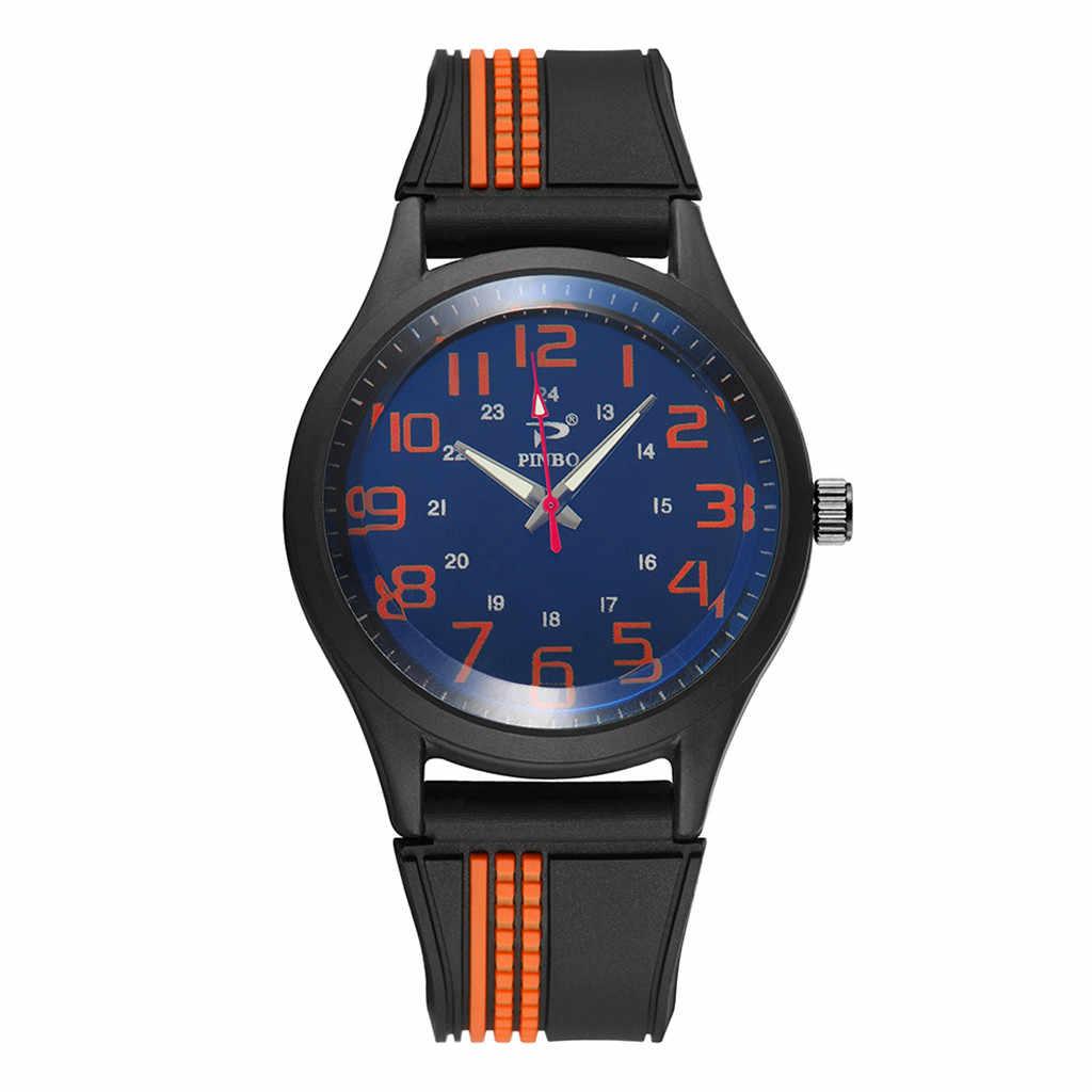 Homens relogio masculino Suave Silicone Rubber Strap Sports Watch Moda Simulado Quartz Relógios de Pulso Dropshipping Reloj Hombre