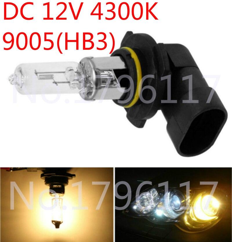 10Pcs DC 12V HB3 9005 65W 4300K Yellow Car Headlight Bulb Fog Lamp Bulb Clear Automobile Head Light Bulb Auto Light Source
