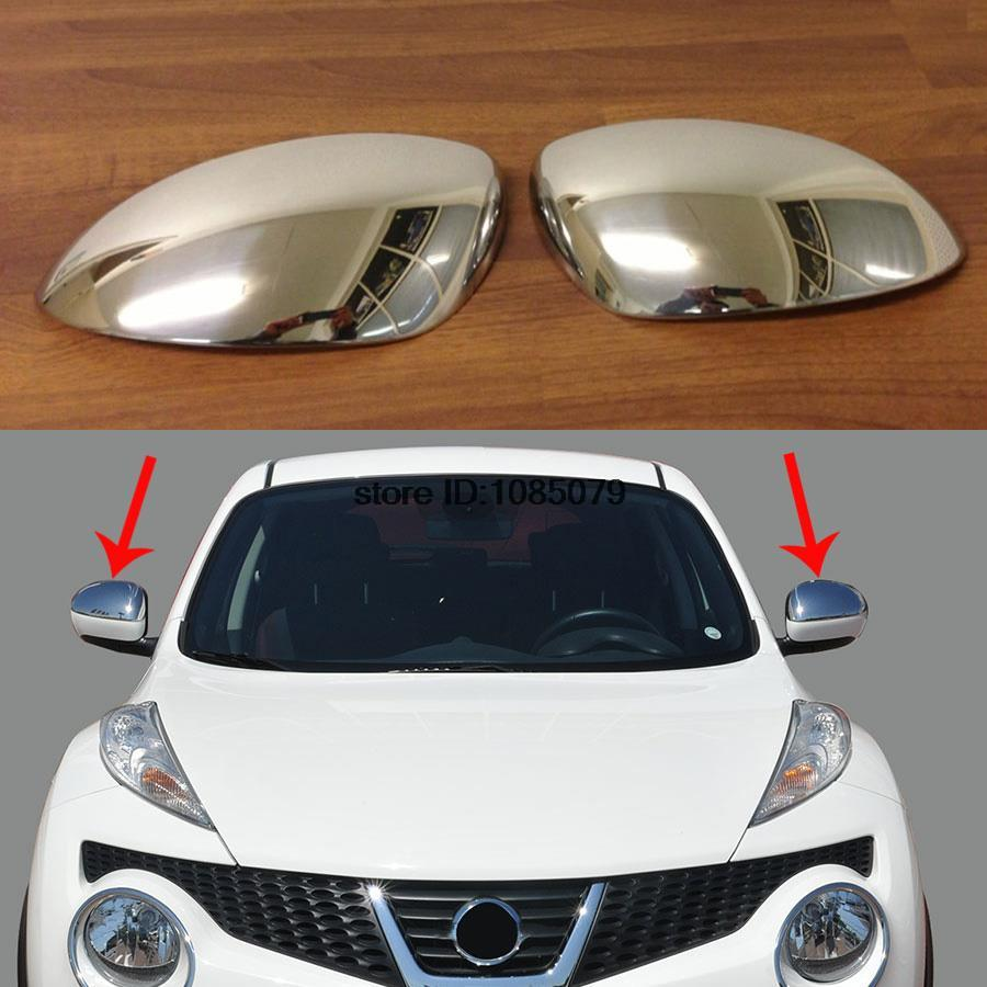 acheter accessoires fit pour 2011 2013 nissan juke chrome side mirror cover trim. Black Bedroom Furniture Sets. Home Design Ideas