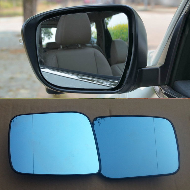 Ipoboo 2pcs New Power Heated w/Turn Signal Side View Mirror Blue Glasses For Nissan X-Trail