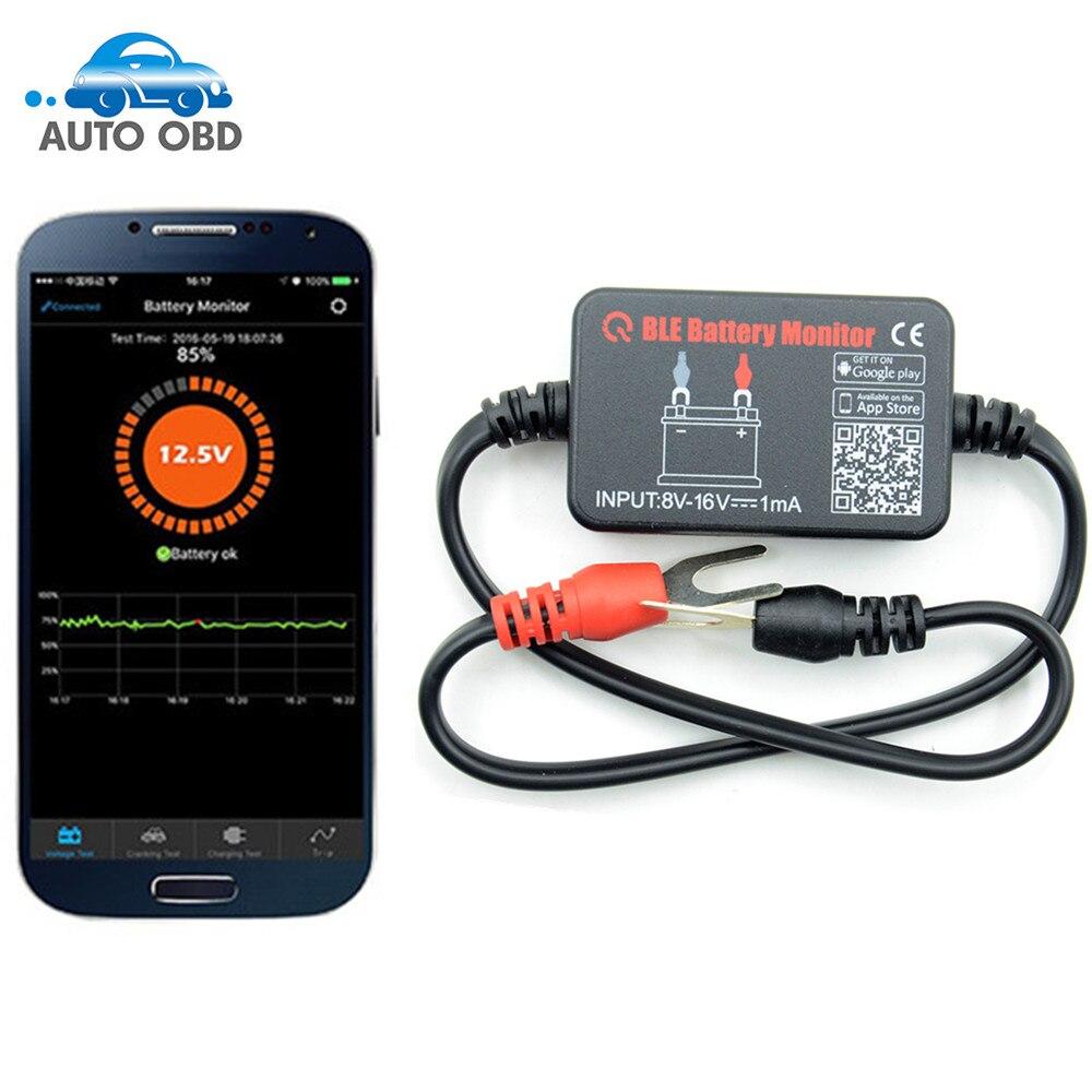 Prix pour Bluetooth 12 V Testeur de Batterie Batterie Moniteur Analyseur De Batterie de Voiture De Charge Démarrage Tension D'essai Test Pour Android IOS Téléphone