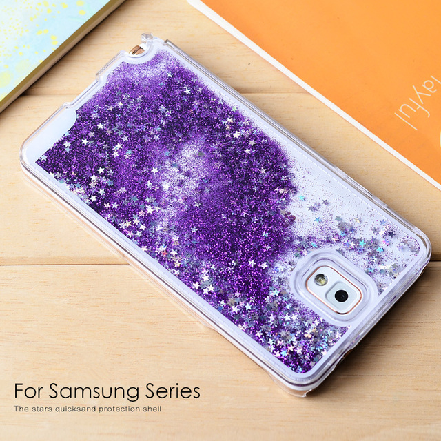 meet 712b8 34092 For Samsung Note 3 Case Glitter Quicksand Star Liquid Case Cover For  Samsung Galaxy Note 3 4 5 S4 S5 S6 S7 Edge Fundas Coque