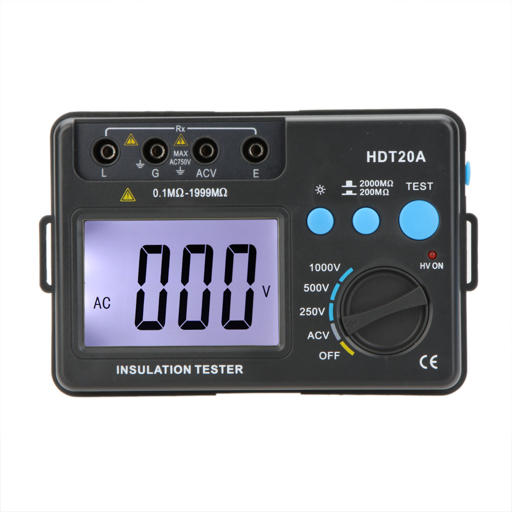 High Quality Original Insulation Resistance Tester Digital Megohmmeter Voltmeter With LCD Backlight Electronic Diagnostic Tools original autel maxitpms ts501 with obd2 adapters tpms diagnostic