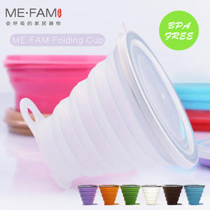 ME.FAM Silicone Folding Cover Coffee Cups Travel Water Cup