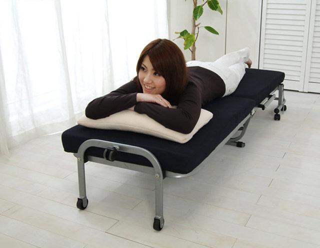 Tienda Online Japonés moderno Lazy metal plegable cama con colchón ...