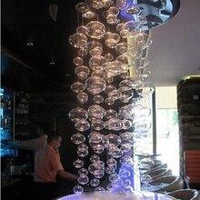 Муранский вогнутый точечный стеклянный подвесной светильник, подвесной светильник с плоским шаром, светодиодный подвесной светильник, современные лампы для гостиной