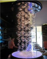 Height 60cm Murano Due Bubble Glass Ceiling Lamp Suspension Ceiling LED DropLamp Modern Living Room Lamps