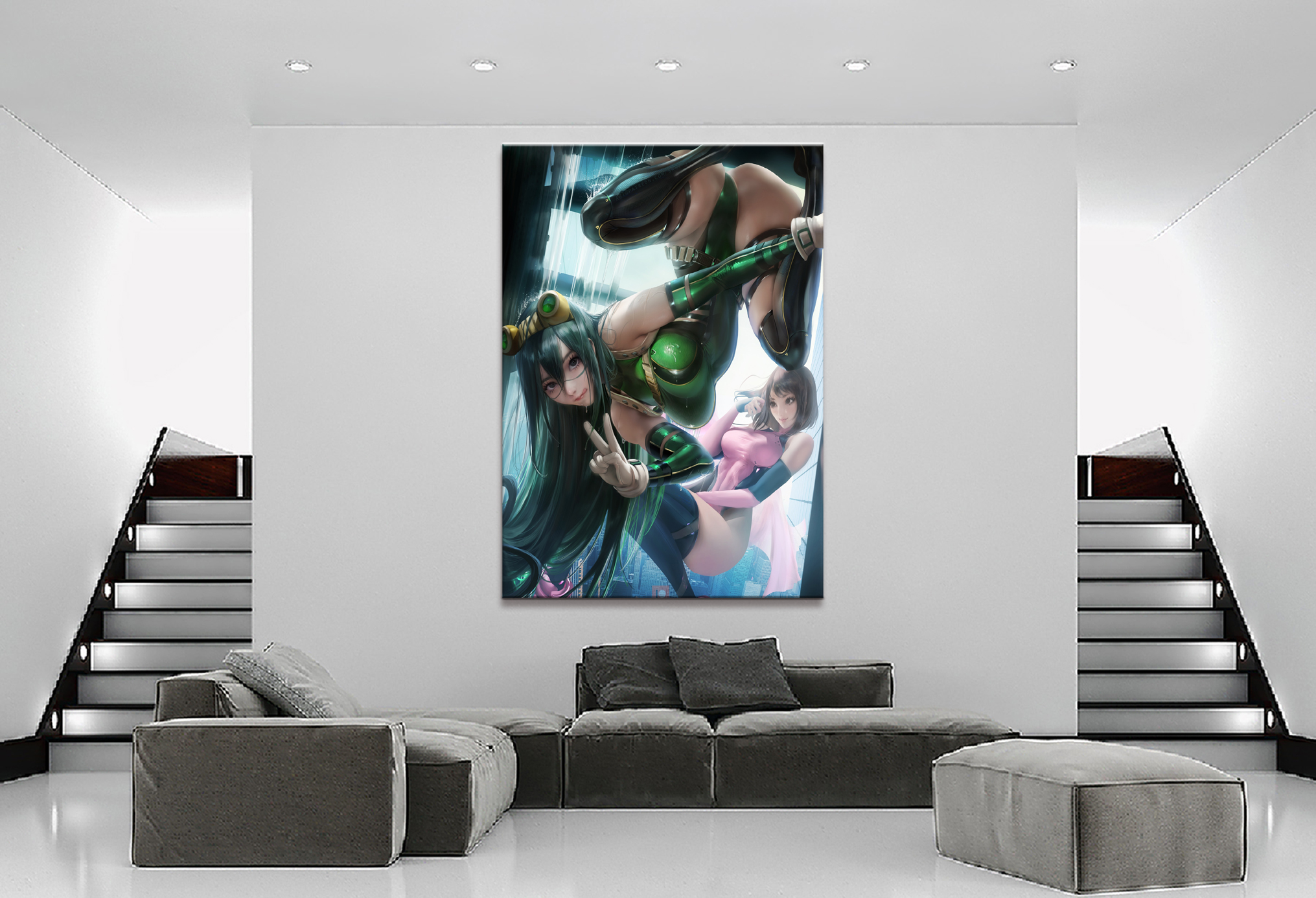 Home Decor Canvas 1 Piece Cute Sexy Anime My Hero Academia Asui Tsuyu Posters and Prints Painting Home Decoration Wall Pictures
