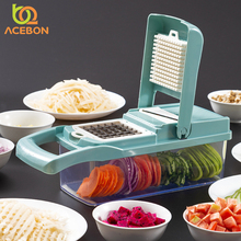 Manual Onion Chopper Vegetable Chopper Mandoline Slicer Dicer With 7 Replaceable Blades Veggie Chopper Cutter Kitchen Tools