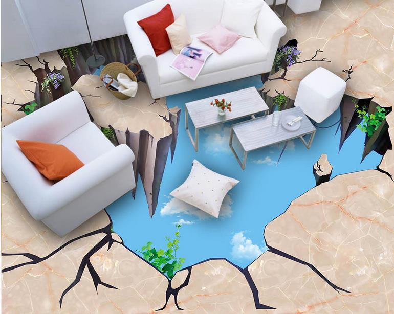 Modern Wallpaper 3d Floor Tiles Home Improvement Marble High Wallpaper 3d  Floor Painting Waterproof Wallpaper For Bathroomt