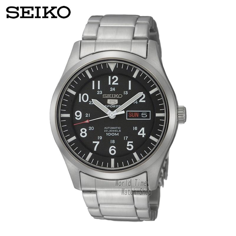 SEIKO Watch No. 5 Automati Mechanical steel waterproof men watch SNZG15J1 SNZG13J1 SNZG15K1 seiko 5 snke53k1s