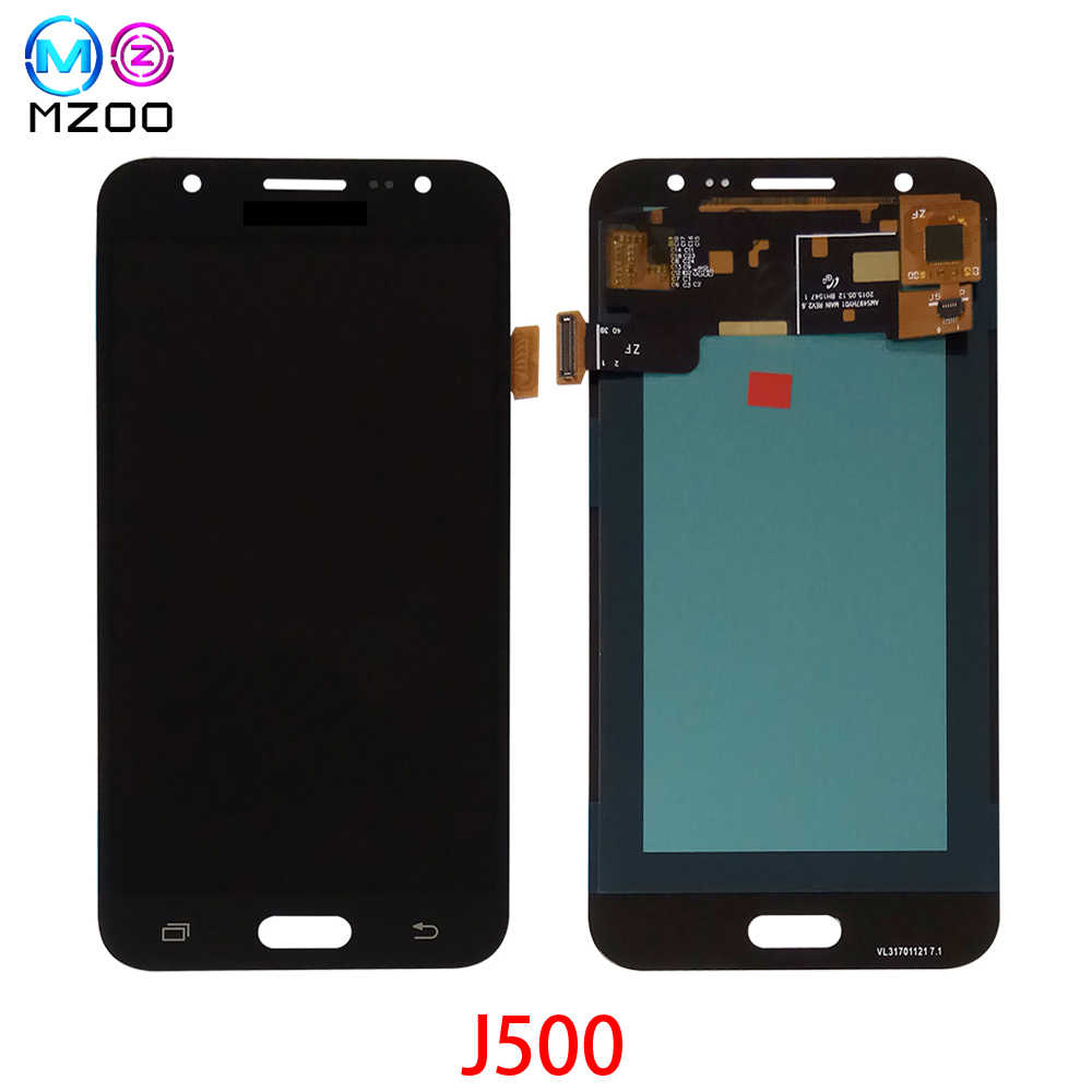 100% ทดสอบ Super AMOLED LCD สำหรับ Samsung Galaxy J5 2015 J500 J500F J500FN J500H J500M จอแสดงผล LCD Touch Screen Digitizer assembl