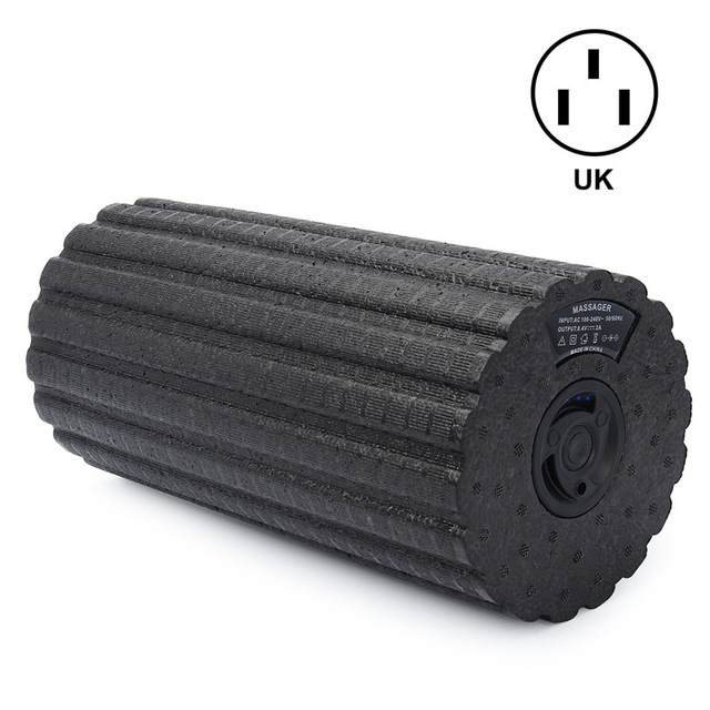 Electric 4-Speed Vibrating Foam Roller Muscle Massage Deep Tissue Trigger Roll Stretch Tool Body Slimming Yoga Foam Roller