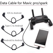 Data Cable for DJI Mavic Pro Spark Air Mavic 2 Zoom Pro Micro USB Transport to IOS typeC Adapter Line Controller Phone Parts micro usb fit ios lighting type c otg data cable line for dji mavic 2 spark mavic air pro controller samsung iphone ipad tablets