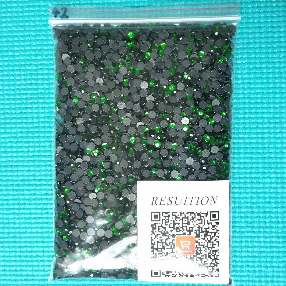 High quality DMC Hotfix Rhinestone GRASS GREEN For Clothing Wedding Garment Flat  Back Hot Fix Crystals Rhinestone 7fcc77deec1b