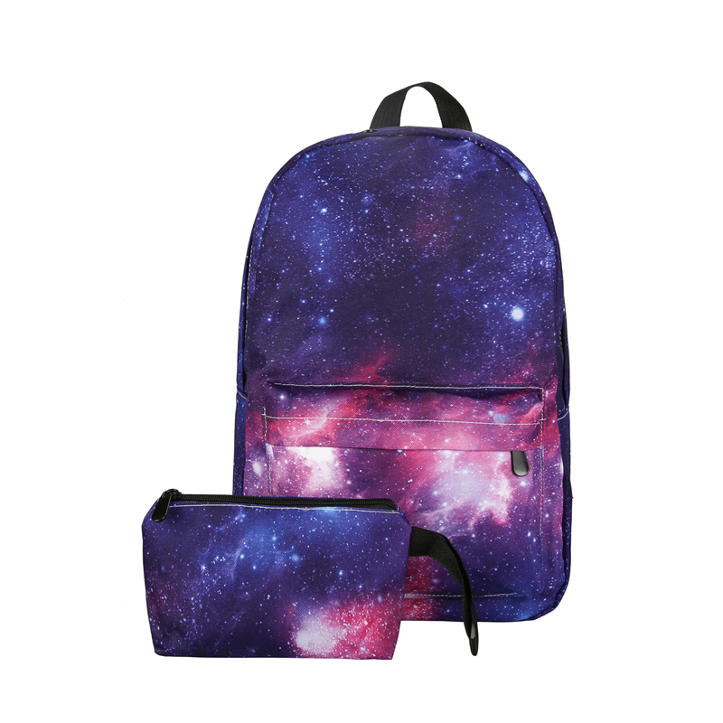 2018 Galaxy Star Universe Space Backpack Starry Sky Women Bags Canvas Backpack Girls School Backbag Travel Rucksack ...