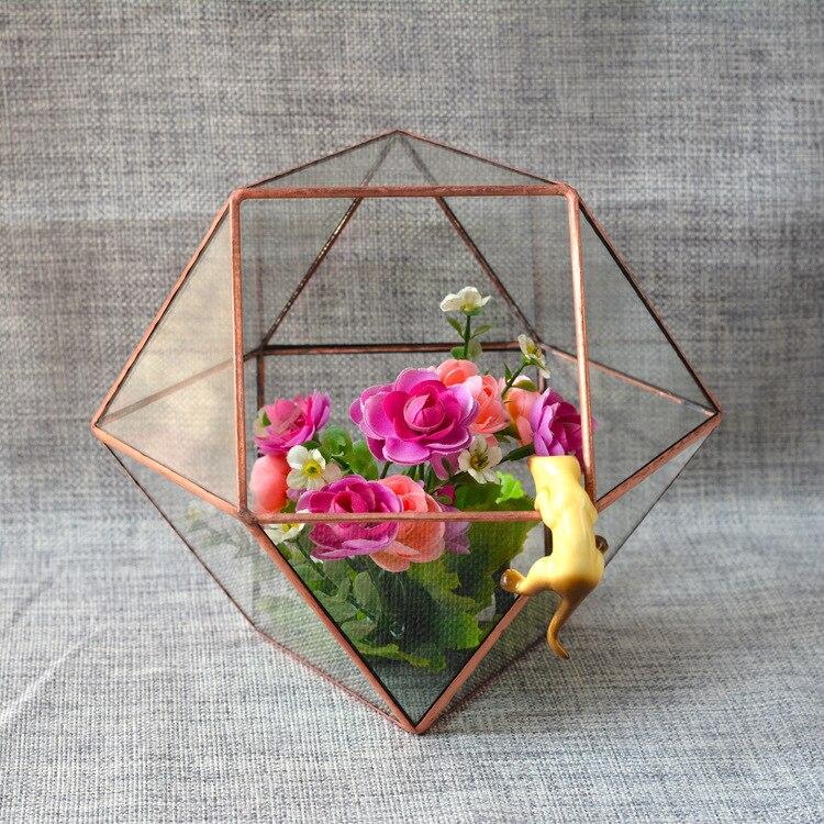 DIY moss micro landscape glass greenhouse flower ware crafts fleshy flower pot plant life