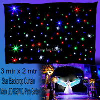 3m X 2m 108pcs LED Matrix Star Backdrop Curtain Light DMX DJ Stage Wedding Party
